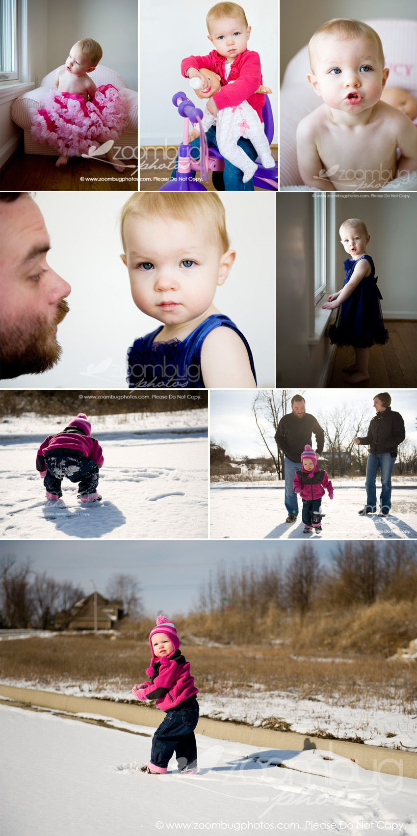 toddler girl snow on-location session